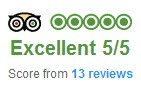 Trip Advisor - Excellent Rating